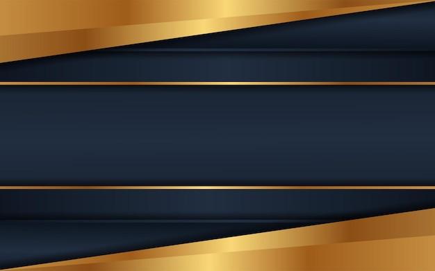 Lo sfondo scuro di lusso si combina con linee dorate incandescenti
