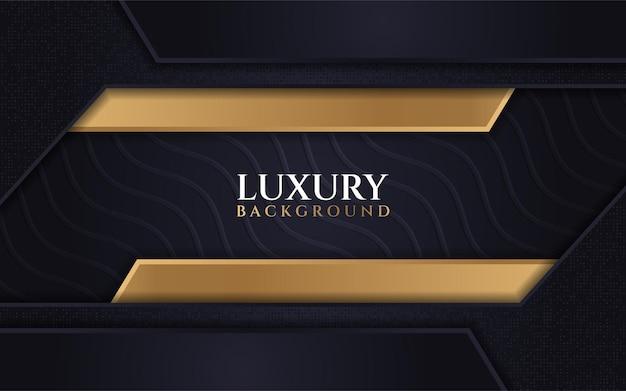 Combinazioni di texture onda di sfondo scuro di lusso con amplificatore glitter line gold