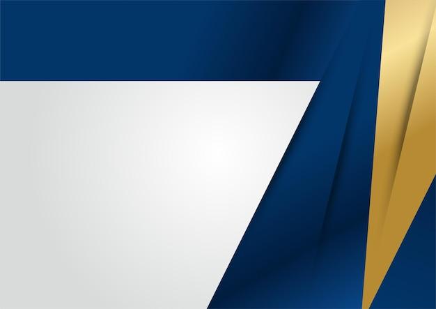 Fondo di dimensione di sovrapposizione blu scuro di lusso sul modello del metallo. texture mezzitoni luccicanti dorati colorati con elementi dorati realistici lucidi. modello di disegno vettoriale moderno