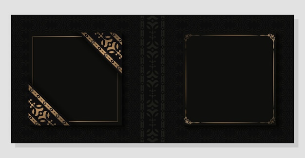 Copertina classica di lusso con motivo ornamentale scuro