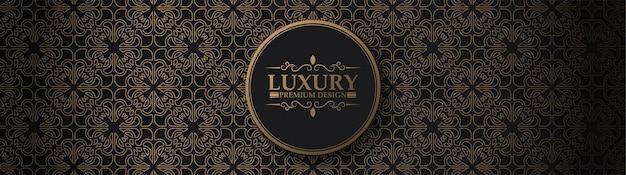 Design pattern di lusso ornamento scuro