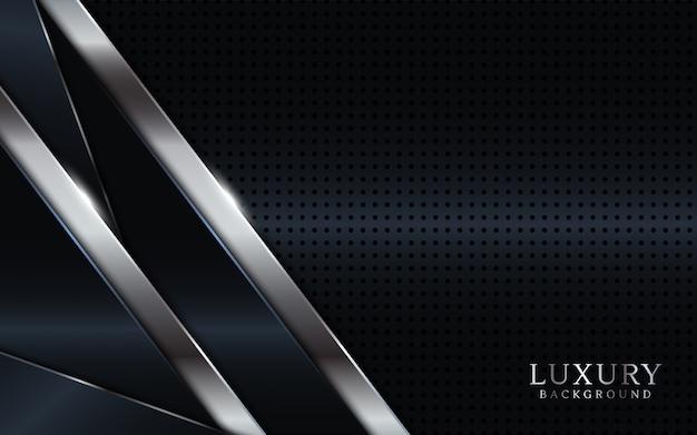 Walpaper di lusso scuro con linee argento.
