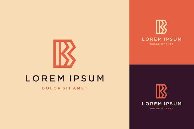Logo di design di lusso o monogramma o lettera b