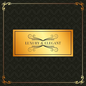 Il lussuoso ed elegante cartello dorato prospera la decorazione del telaio