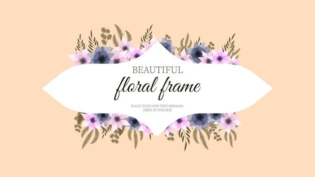 Etichetta di lusso per il giorno delle donne con etichetta vintage con cornice floreale di lusso