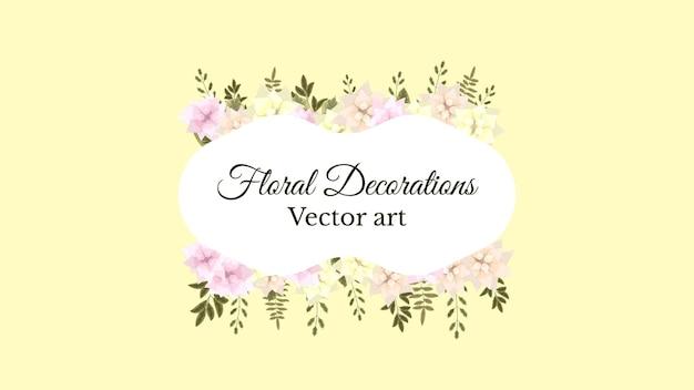 Etichetta del distintivo del giorno delle donne dell'etichetta dell'annata del fondo della cornice floreale di lusso Vettore Premium