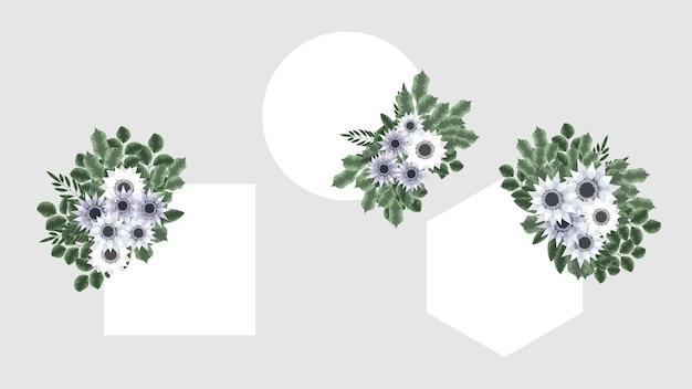 Etichetta del distintivo del giorno delle donne dell'etichetta dell'annata del fondo della cornice floreale di lusso
