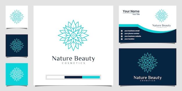 Design del logo fiore di lusso con stile art line. i loghi possono essere utilizzati per spa, salone di bellezza, decorazione, boutique. e biglietto da visita