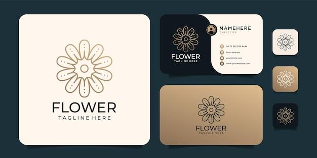 Design del logo del fiore di lusso