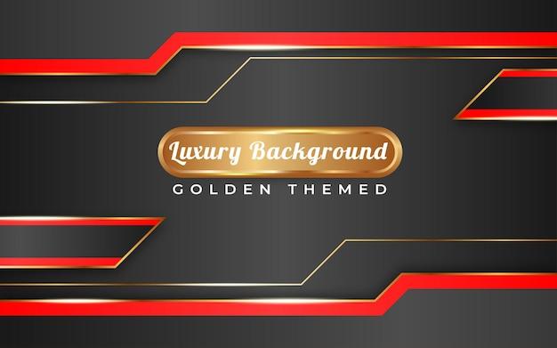 Tema dorato di sfondo sfumato nero pieno di lusso