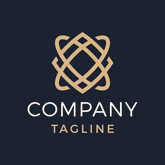Monogramma geometrico di lusso xo monoline gold logo design