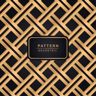 Sfondo di lusso motivo geometrico in colore oro