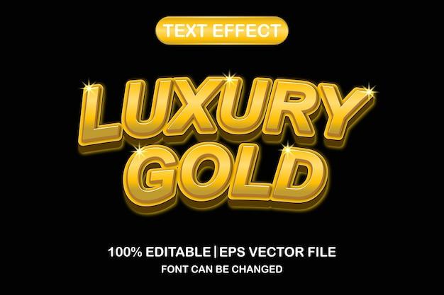 Effetto di testo modificabile 3d oro di lusso