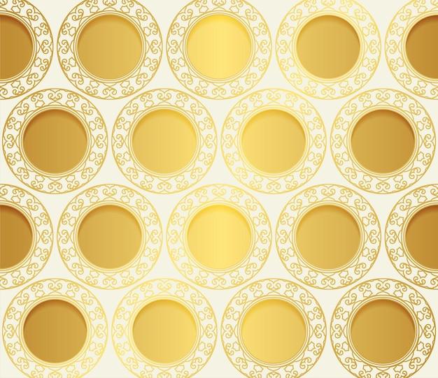 Fondo del modello del bordo dell'oro di lusso
