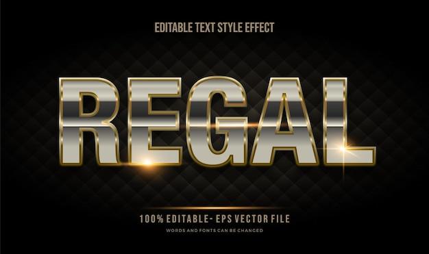 Effetto stile testo modificabile color oro di lusso. effetto contorno oro. stile del carattere modificabile