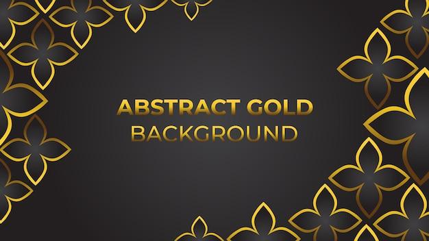 Oro di lusso floreale su sfondo nero perfetto per il marketing e la promozione dello sfondo vettoriale