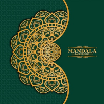 Luxury gold mandala isolato su verde