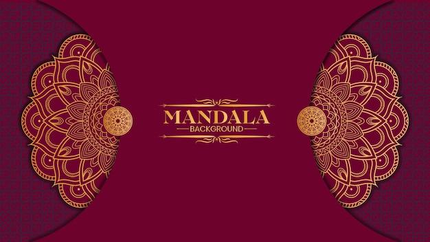 Luxury gold mandala isolato sulla viola