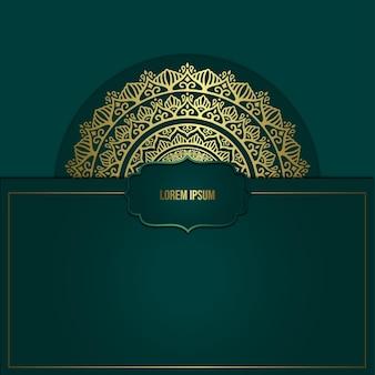 Sfondo ornato di lusso oro mandala per invito a nozze