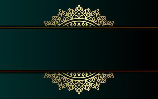 Sfondo ornato di lusso oro mandala