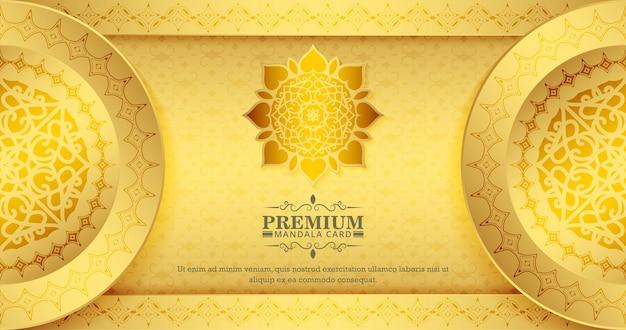 Fondo del modello della mandala dell'oro di lusso