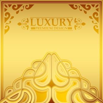Fondo del modello di ornamento d'oro di lusso