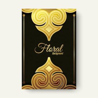 Copertina di lusso a forma di ornamento d'oro