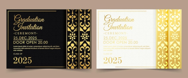 Design con cornice floreale rotonda in oro di lusso