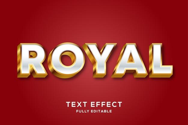 Effetto di testo modificabile royal gold di lusso