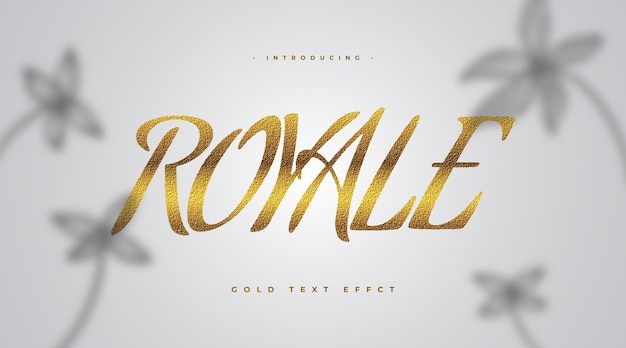 Stile di testo gold royale di lusso con effetto strutturato