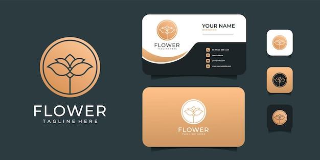 Design del logo di moda spa oro di lusso