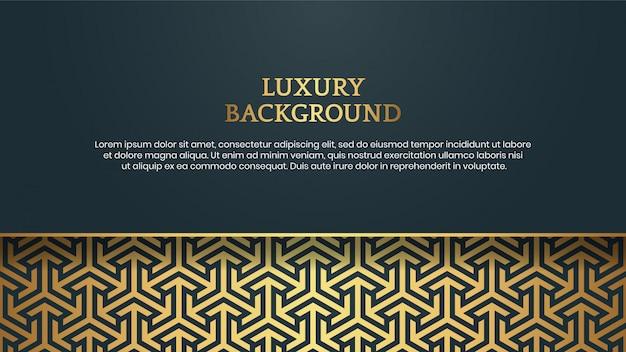 Fondo astratto dorato di lusso con il modello del confine e del testo dell'oro della struttura elegante dell'ornamento