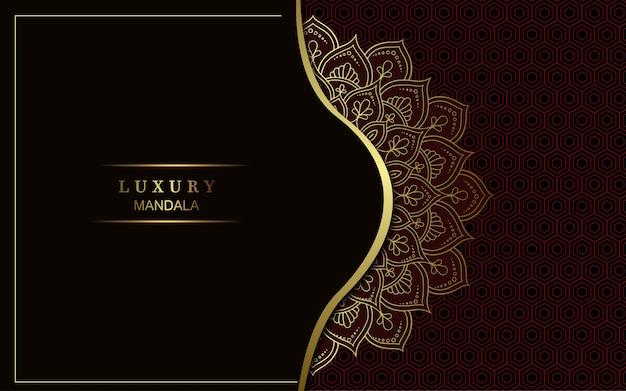 Sfondo di mandala arabesque dorato di lusso.
