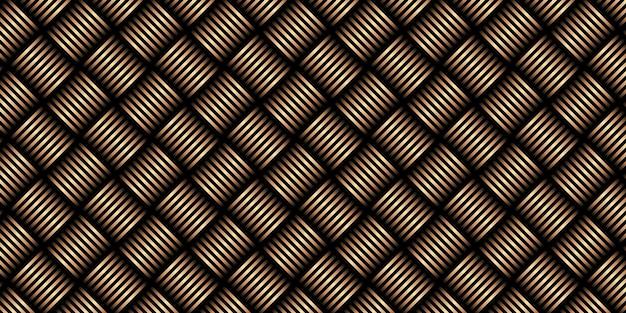 Motivo a strisce diagonali dorate di lusso su sfondo nero. design moderno motivo geometrico.