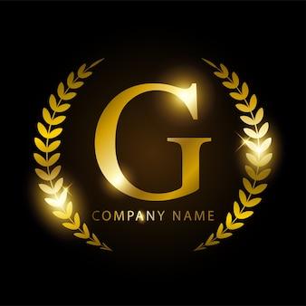 Lettera d'oro di lusso d per l'identità del marchio