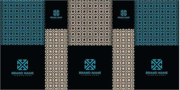 Design di packaging dorato di lusso, set di design della scatola. illustrazione del modello