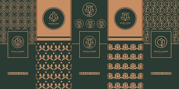Design del logo della confezione dorata di lusso