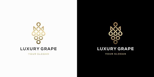 Design del logo dell'uva di lusso