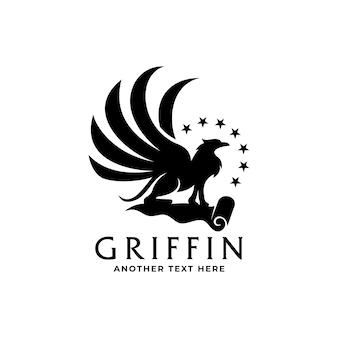Modello di logo premium griffin di lusso