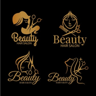 Collezione di logo di lusso parrucchiere