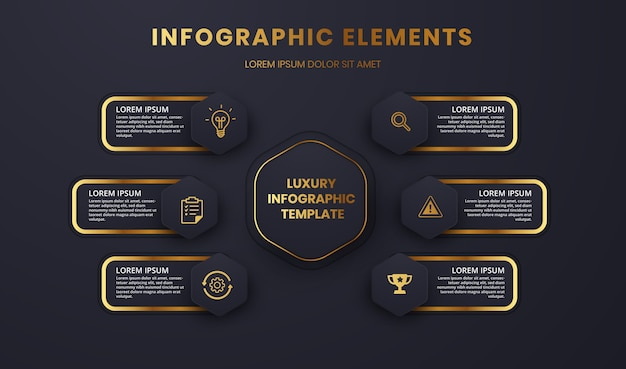 Grafica modello infografica di lusso