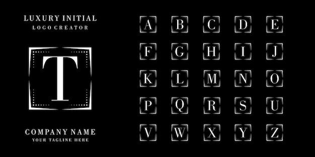 Design del logo distintivo iniziale di lusso