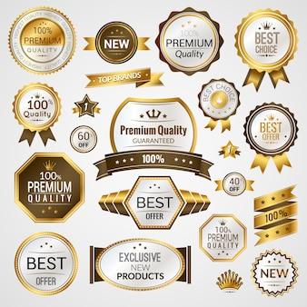 Set di etichette di lusso