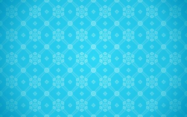 Vettore di sfondo azzurro di lusso lai thai pattern