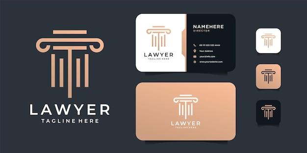 Design del logo di giustizia di legge di lusso