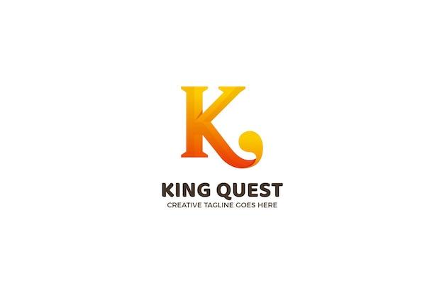 Modello di logo aziendale di lusso lettera k