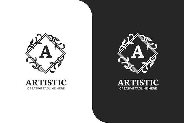 Modello di logo lettera a di lusso