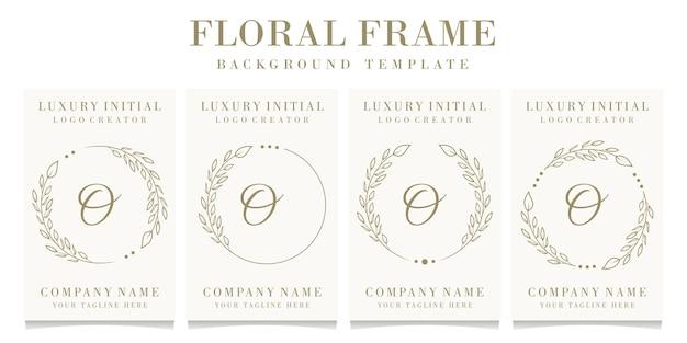 Lettera di lusso o logo design con modello di sfondo cornice floreale