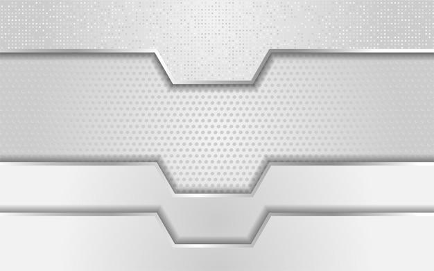 Sfondo argento chiaro di lusso design elegante e moderno dello sfondo Vettore Premium