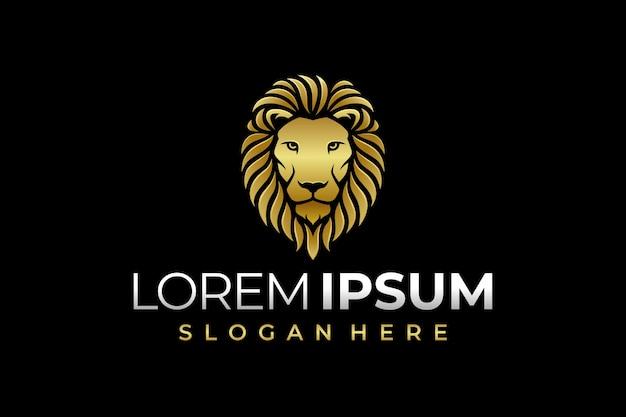 Logo leone di lusso